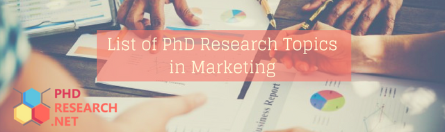 list of PhD research topics in marketing