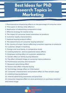 best ideas for phd research topics in marketing