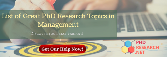 list of great PhD research topics in management