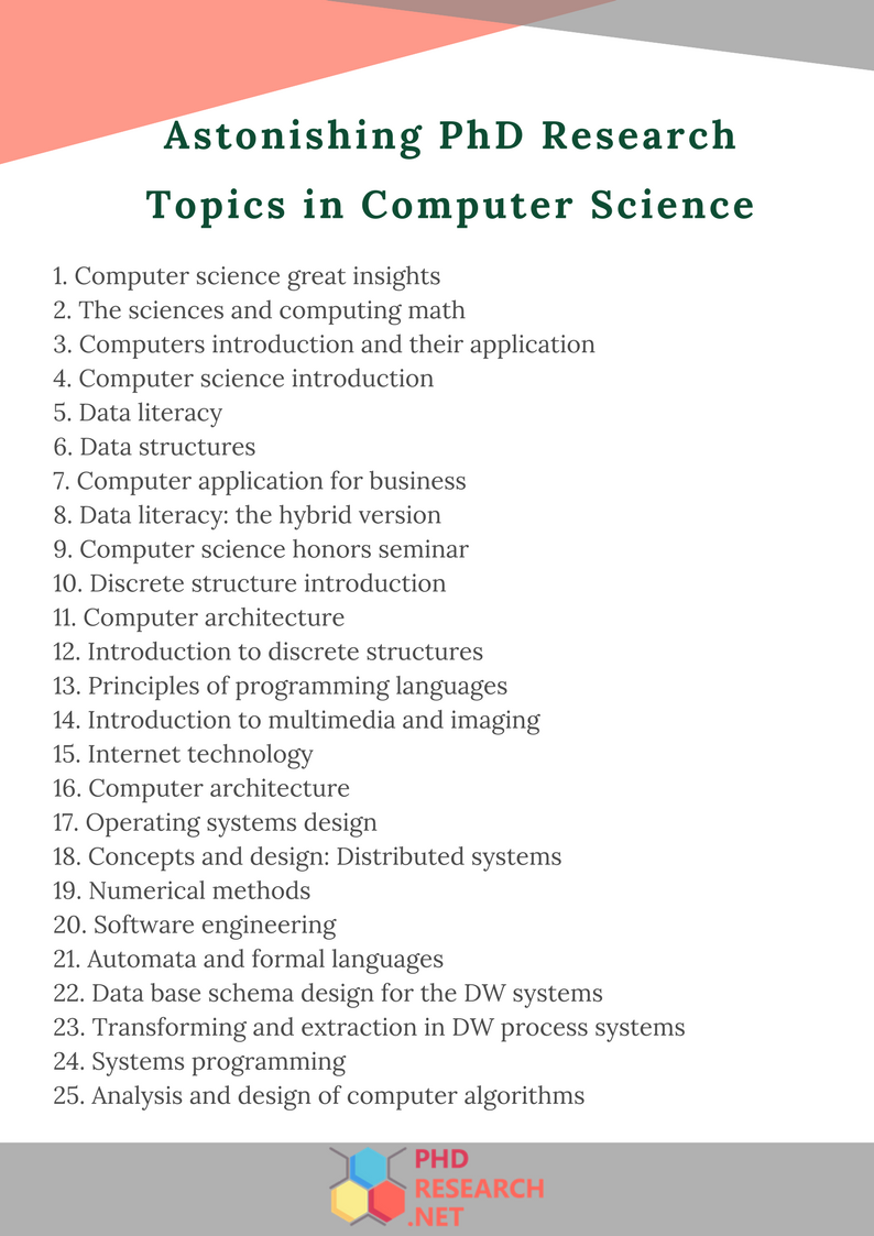 astonishing phd research topics in computer science