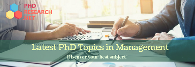 latest PhD topics in management