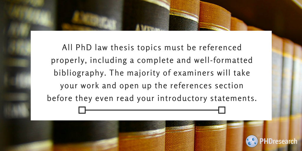 phd law thesis advice