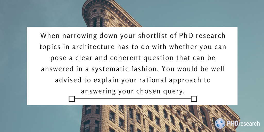 phd architecture advice
