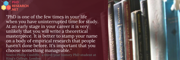 choosing a phd thesis topic quote