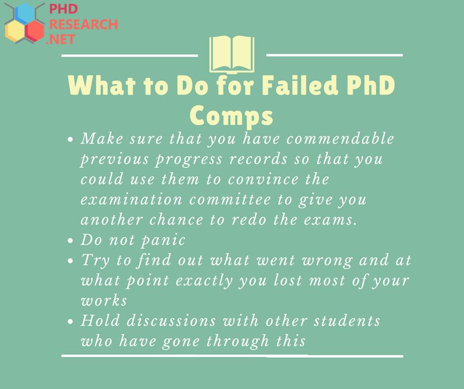 failed phd comps tips