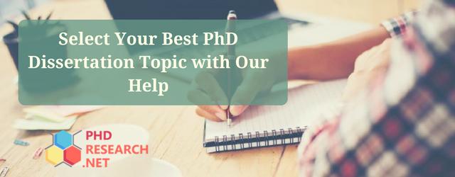 best PhD dissertation topics