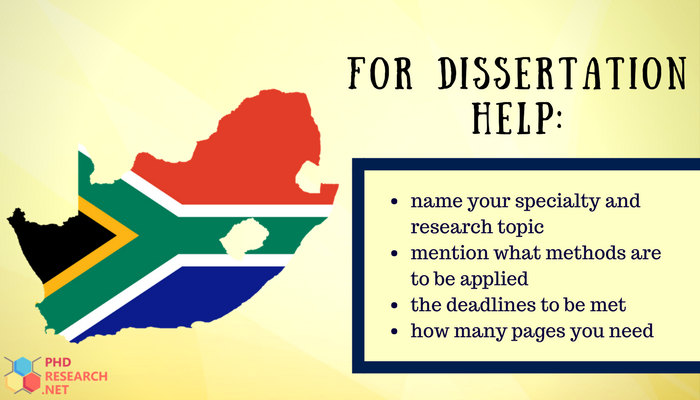 dissertation assistance south africa