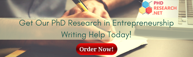 PhD research in entrepreneurship writing help
