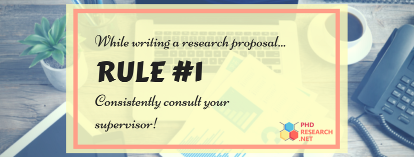 advice to write a good research proposal