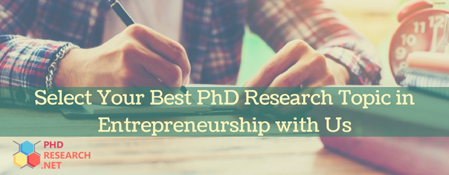 phd research topics in entrepreneurship