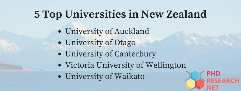 5 top universities in new zealand