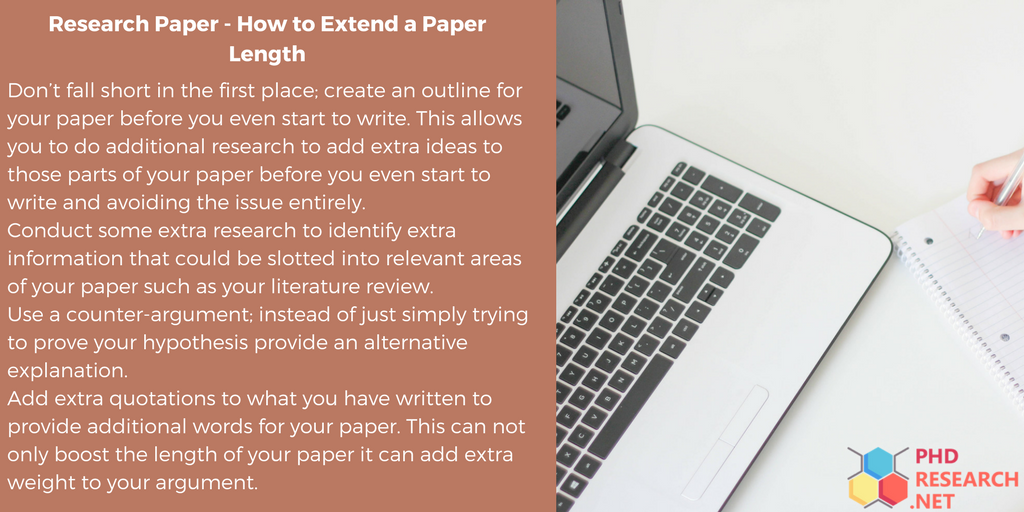 tips on how to extend a paper length