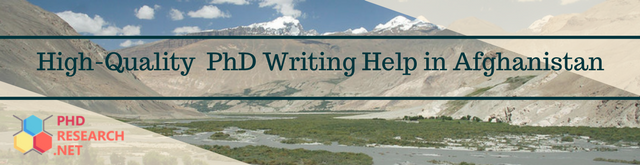 phd writing help in Afghanistan