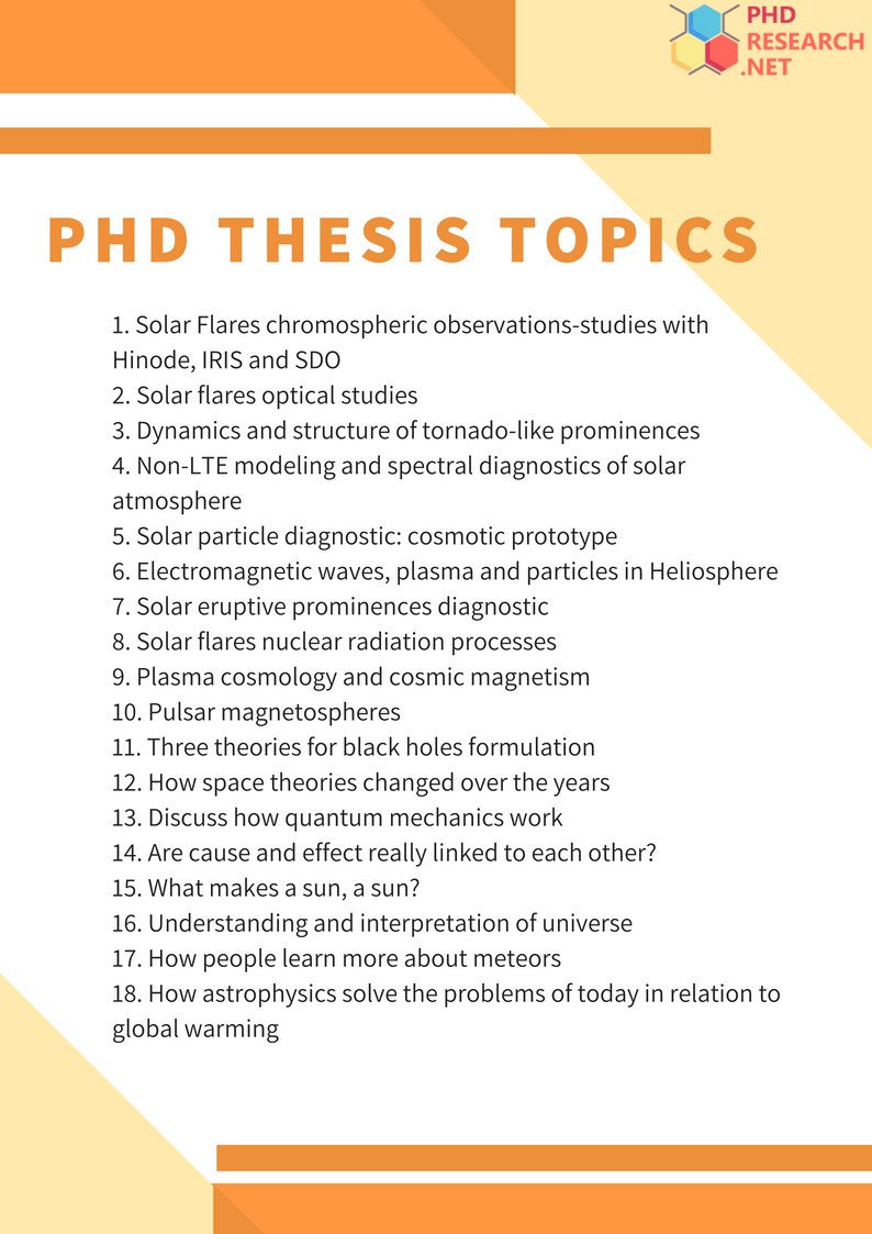 phd thesis topics